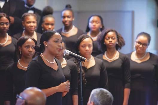 Lincoln University Concert Choir performs. Photo © Robin Hipple.
