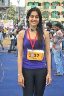 Regina Cassandra Latest Photos from Hyderabad 10K Run