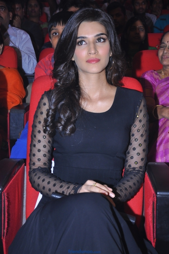 Kriti Sanon Latest Photos in Black Dress at Nenokkadine Audio Launch