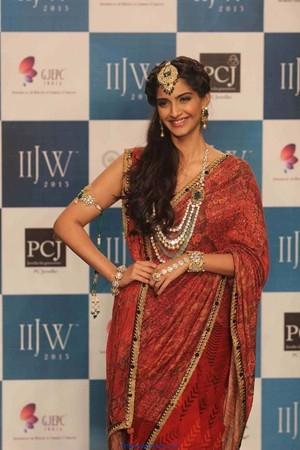 Sonam Kapoor at IIJW Grand Finale 2013 in Saree - Bollywood - Friendsmoo