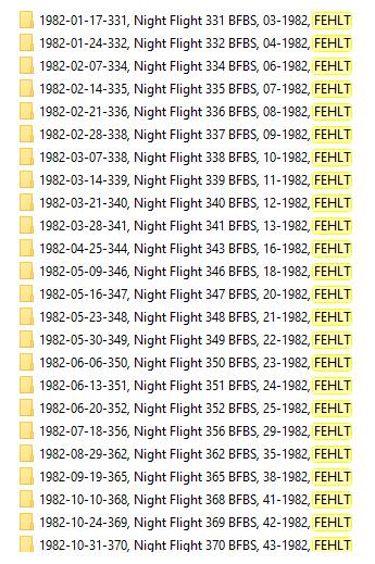 Nightflight BFBS 1982