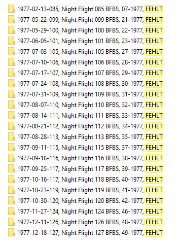 Nightflight BFBS 1977