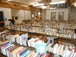 Book Sale ready for browsing. Dec. 2015