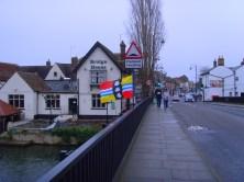 Bedfordshire Flag on Town Bridge, St. Neots