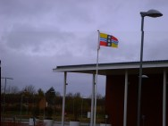 Bedfordshire Flag at Central Befordshire Council's Chicksands office