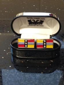 Bedfordshire flag design on cufflinks