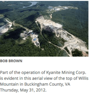 Kyanite Mining Corporation Request for Amended State Operating Permit
