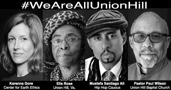 Letter of Support for Justice for Union Hill, with support from Karenna Gore and others, updated 12-27-18
