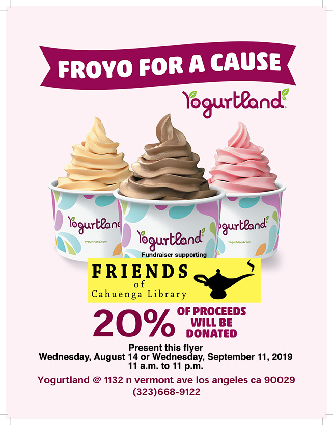 2019 Yogurtland Fundraiser Flyer