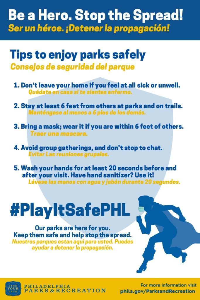 Philly Parks Entering Yellow Phase Safer At Home Friends Of Clark Park
