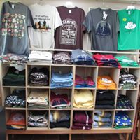 Shirts to buy at Glacier's Gifts--located in the Ice Age Visitor Center