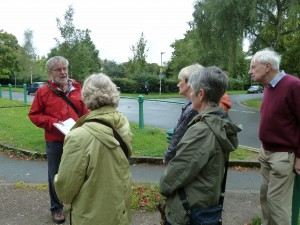 Des Marshall leading a walk around Clarence and Wellington Squares during Heritage Open Days