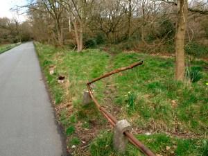 Broken rail on Ladies Mile