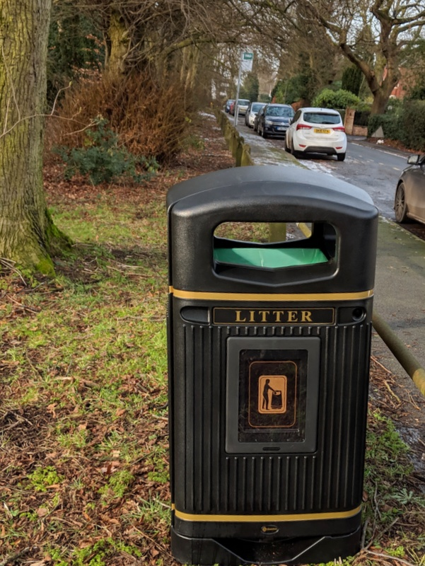 New bin on Tabley Road