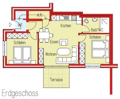 Grundriß Wohnung