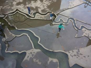 Waterliniemuseum binnenplaats met waterspel 4