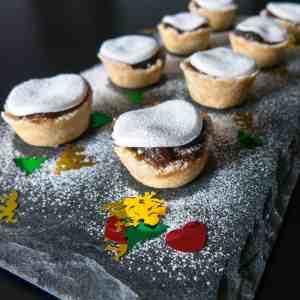 Gluten free, vegan mini mince pies. Ready to serve