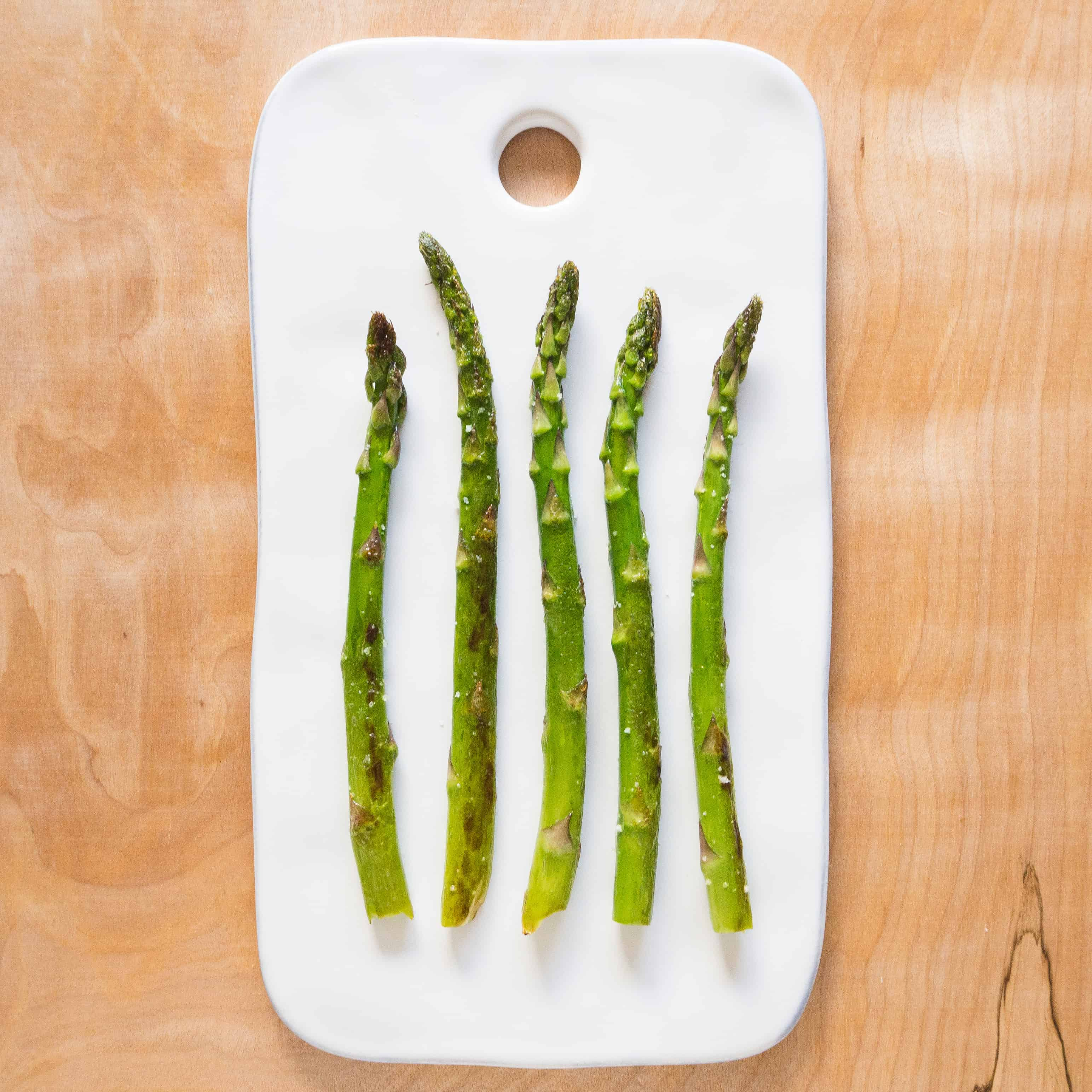 Pan Fried Asparagus with Olive Oil and Lemon