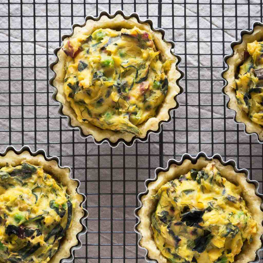 Chard, Courgette and Pea Tart