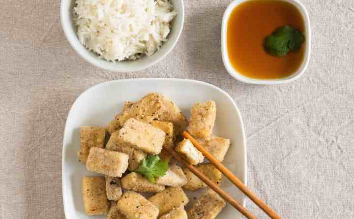 Salt and Pepper Tofu - ready to eat.