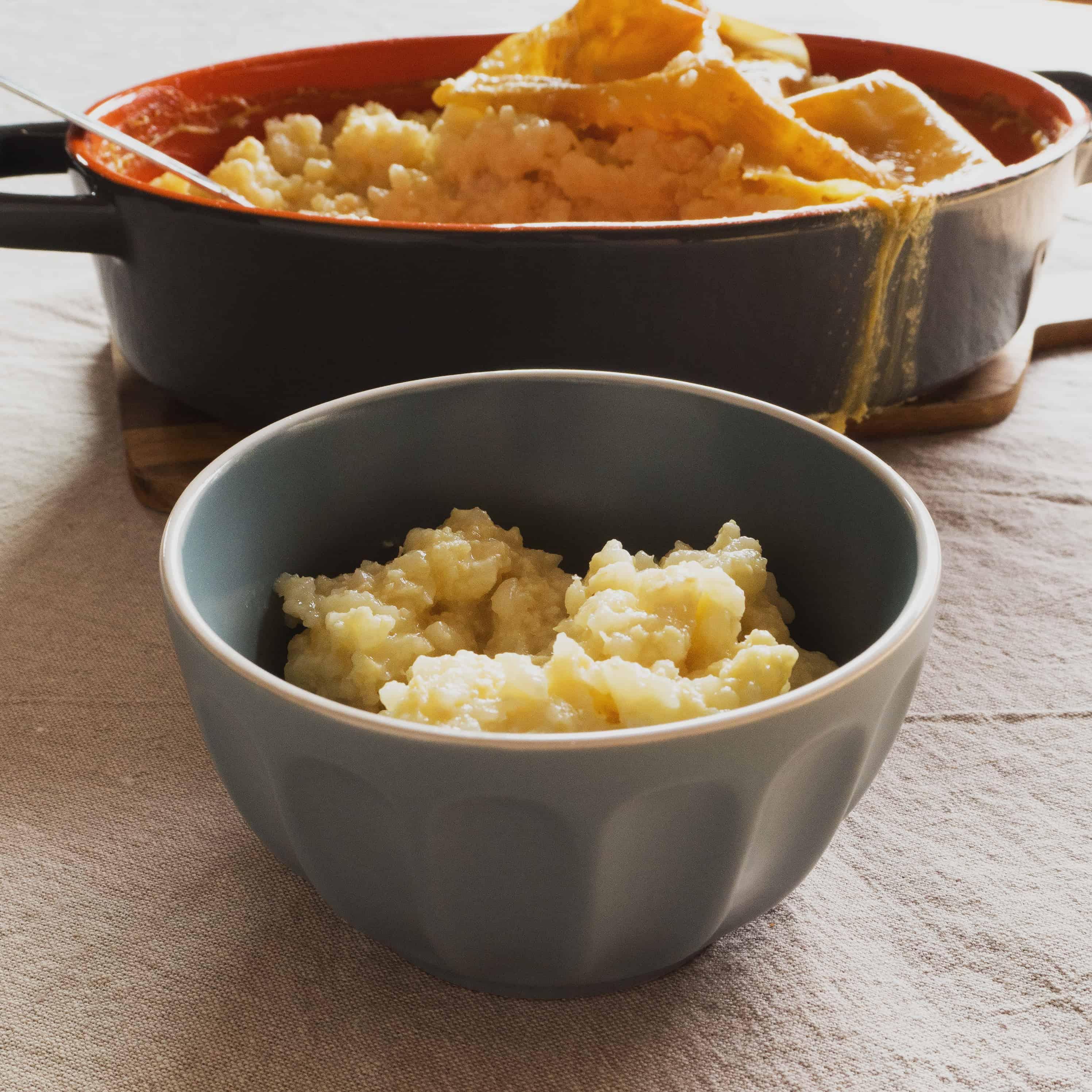 Gluten-Free, Vegan Lemongrass and Ginger Rice Pudding - ready to eat.