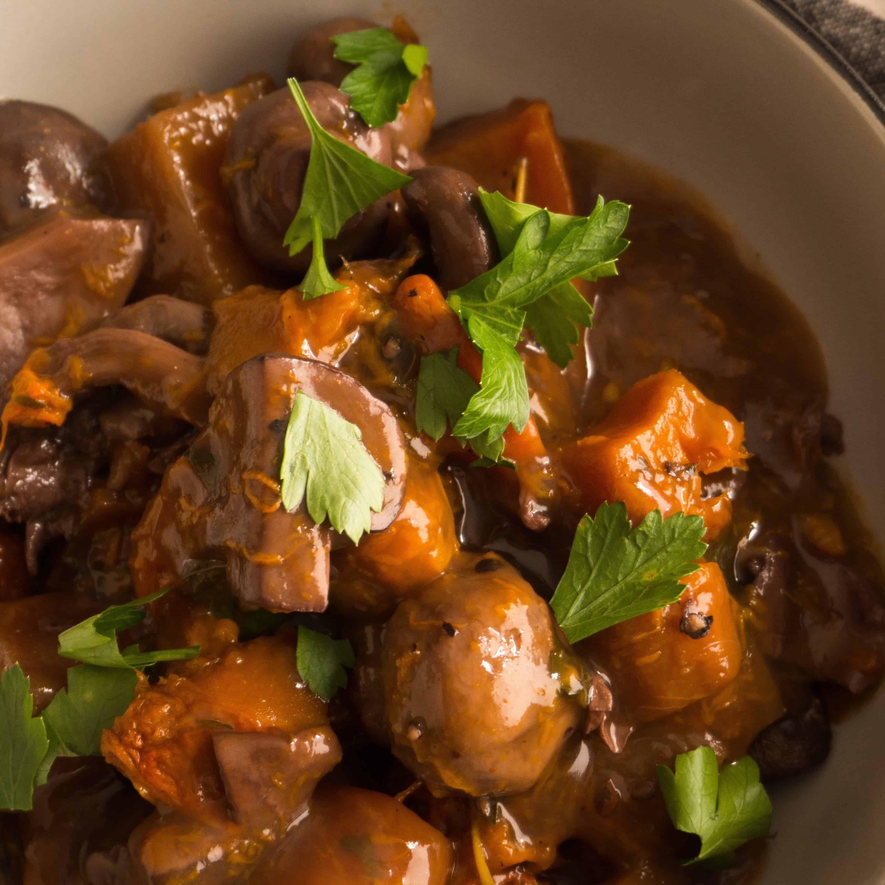 Mushroom and Winter Vegetable Bourguignon