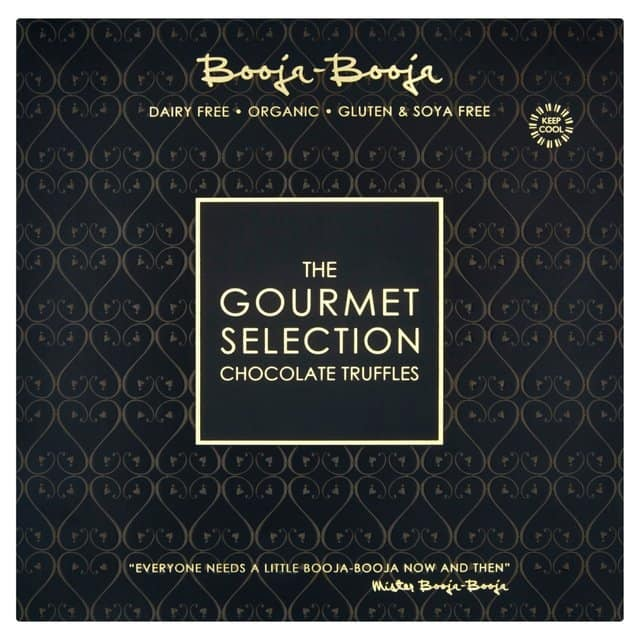 Booja Booja, The Gourmet Collection. Gluten-free, vegan.