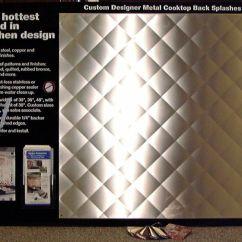 Custom Kitchen Cabinets Online Images Of Remodeled Kitchens Quilted Stainless Steel Backsplash | Frigo Design