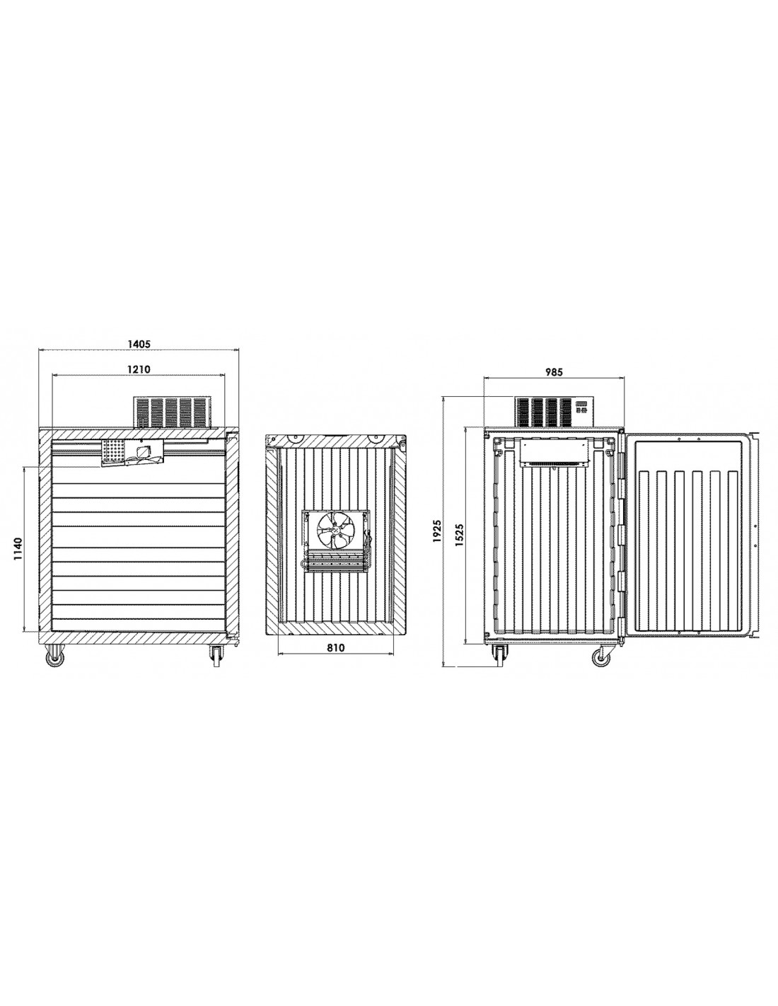 PORTER 1300T refrigerated isothermal container