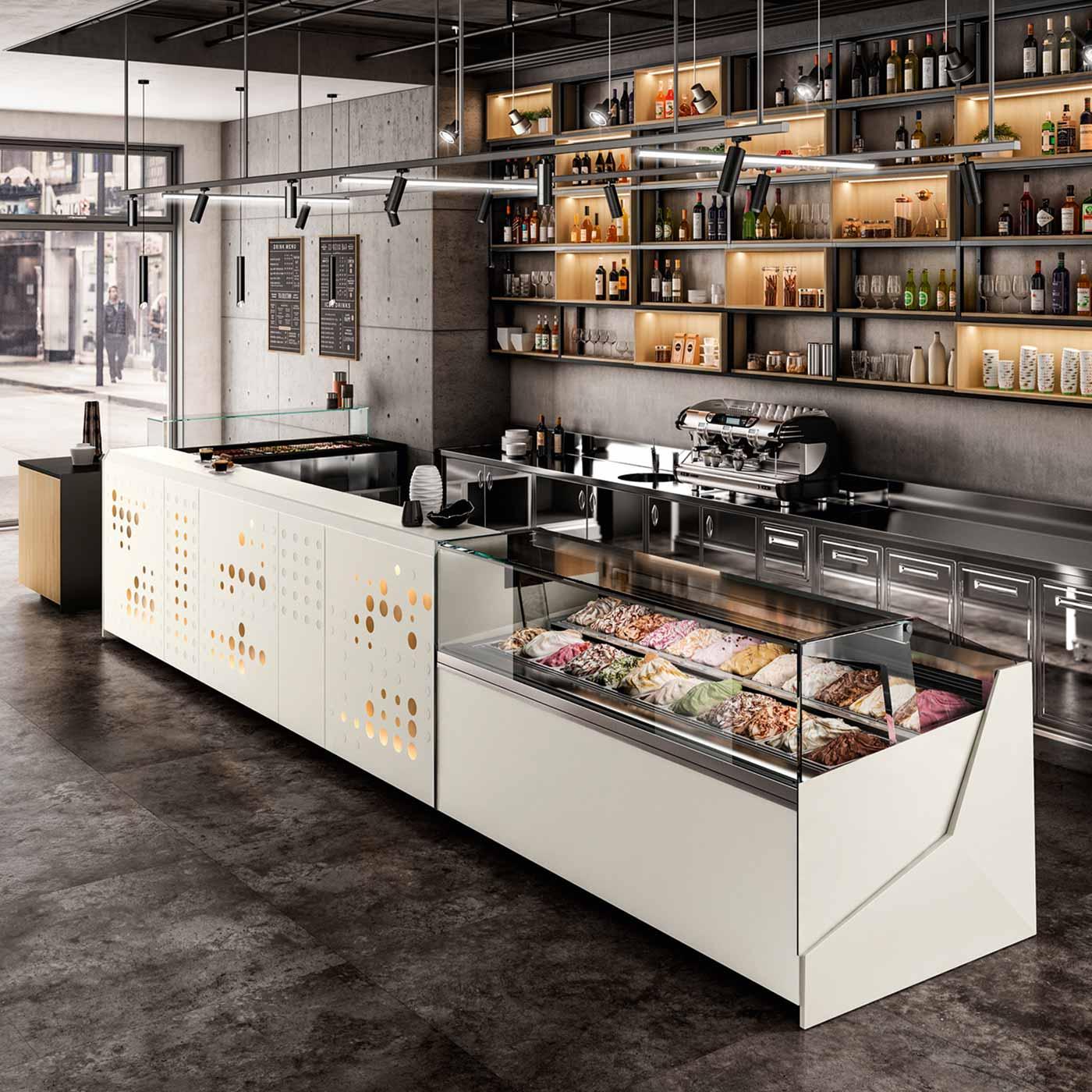 Bar per un caffè e uno scatto è tanta; Un Bancone Bar Economico Hi Tech E Personalizzato