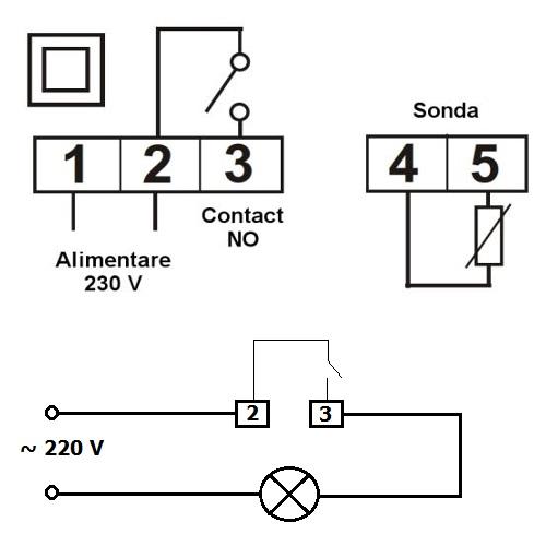 Termostat electronic programabil KLT11DSR230C