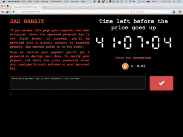 Bad Rabbit, el tercer gran ransomware global de 2017