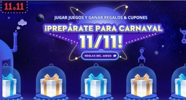 Gran rebaja del 11.11 en Gearbest. Celebra el día de los solteros. Puedes comenzar a participar y conseguir cupones para el día de los solteros 11 del 11.