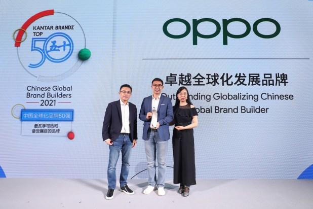 OPPO sexto en el Top 50 del ranking de marcas globales chinas elaborado por KANTAR BrandZ