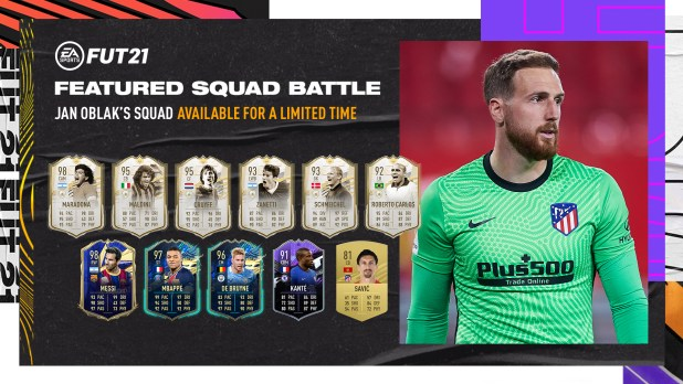 FIFA 21 lanza un nuevo desafío en Squad Battles dedicado a Jan Oblak