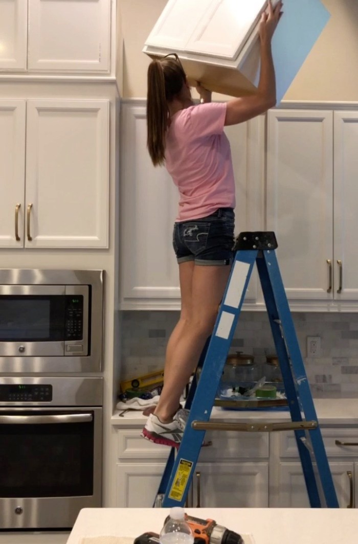 Diy Stacked Kitchen Cabinets Frills, How To Install Stacked Kitchen Cabinets