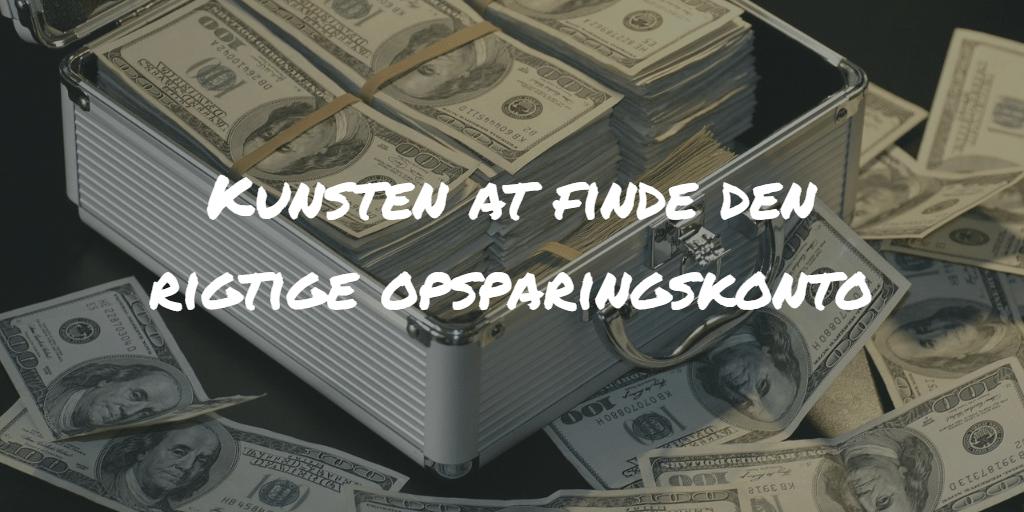 Kunsten at finde den rigtige opsparingskonto Frinans
