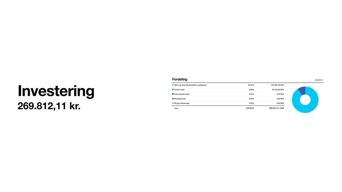 Lønseddel og investering Frinans 2017