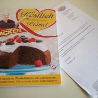 Stachelbeerkuchen mit Baiserhaube Sanella Kochbuch S.48