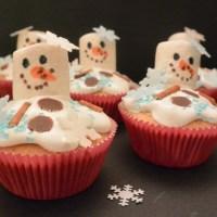geschmolzene Schneemann Muffins #Food #Backen #Weihnachten #Olaf