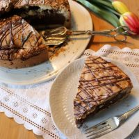COOKIE-KUCHEN Kekskuchen mit flüssigem Schokoladen-Mousse Kern #Rezept #Glitzer #Kuchenzeit