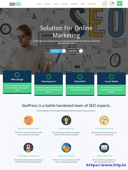 It has content tabs and carousel. 20 Best Seo Website Templates For Seo Agency 2021 Frip In