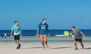 Jamming on Sand