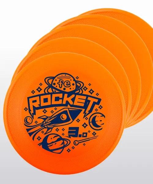 set-up 5 frisbee ROCKET FE arancione orange fluo medium bite performance generazione 3