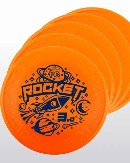 set-up 5 frisbee ROCKET FE arancione orange fluo medium bite performance generazione 3