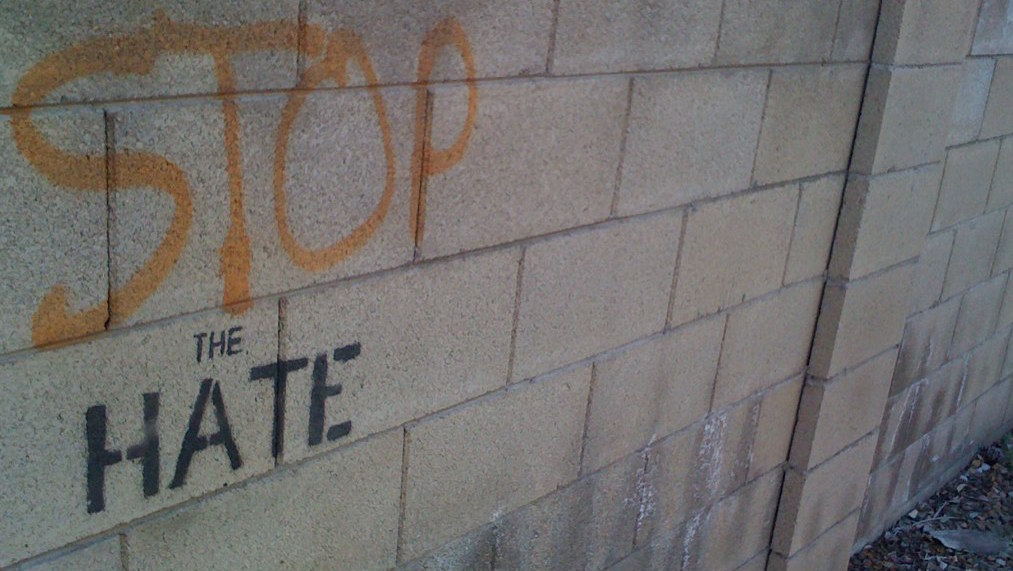 Stop the hate (Grant Stancliff/Flickr)