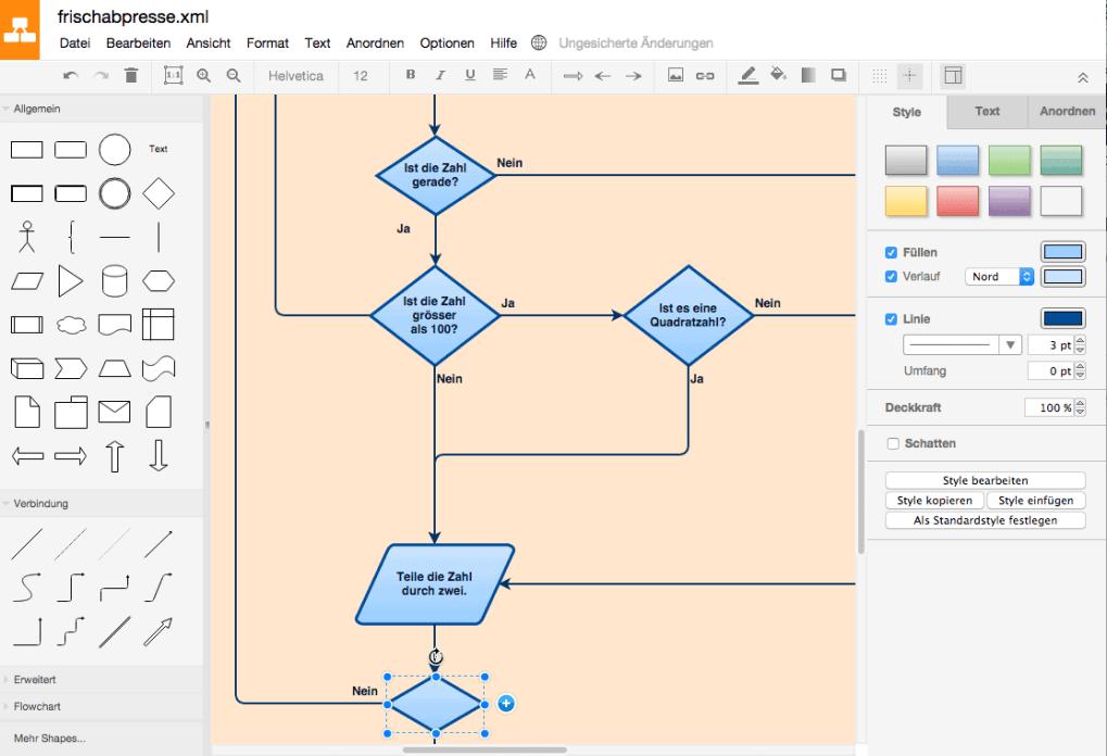 Draw.io: Flussdiagramme online erstellen – frischabpresse ...