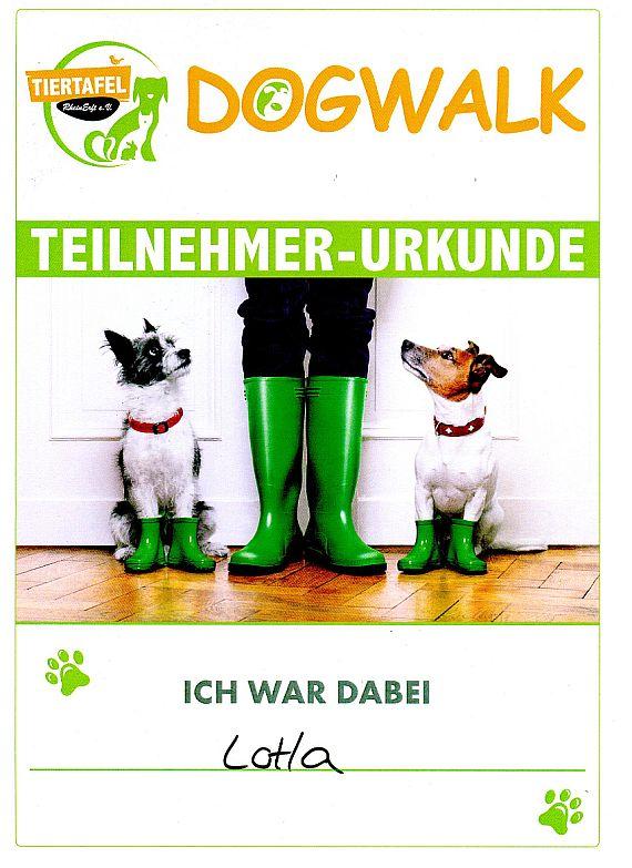 dogwalk Urkunde
