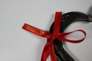 Handmade Horseshoe Heart with Ribbon