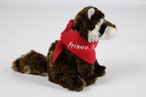 Raccoon with Frisco Scarf Side